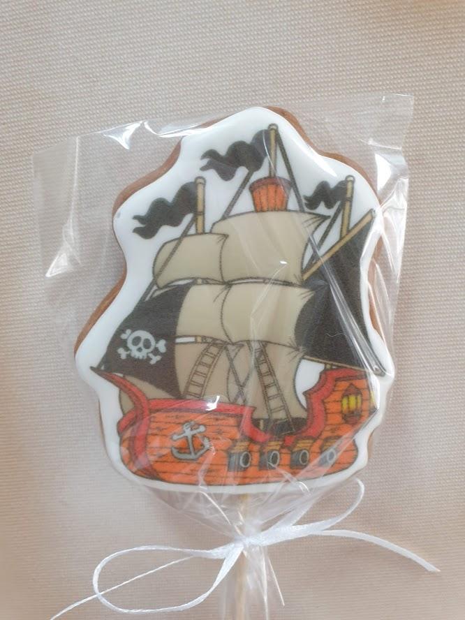 """Пряничный топпер """"Пиратский корабль"""": Купите Тут! Цена: 200 руб."""